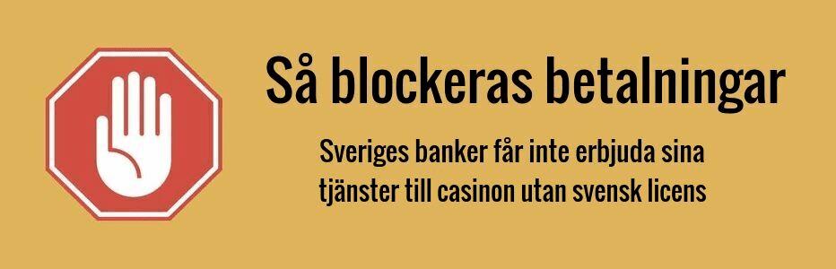 Så blockeras betalningar till casinon utan svensk licens